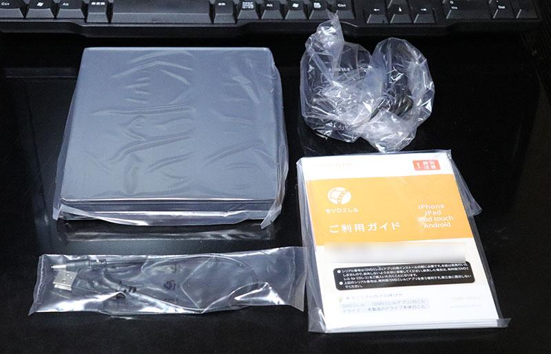 DVDミレル DVRP-W8AI2の付属品