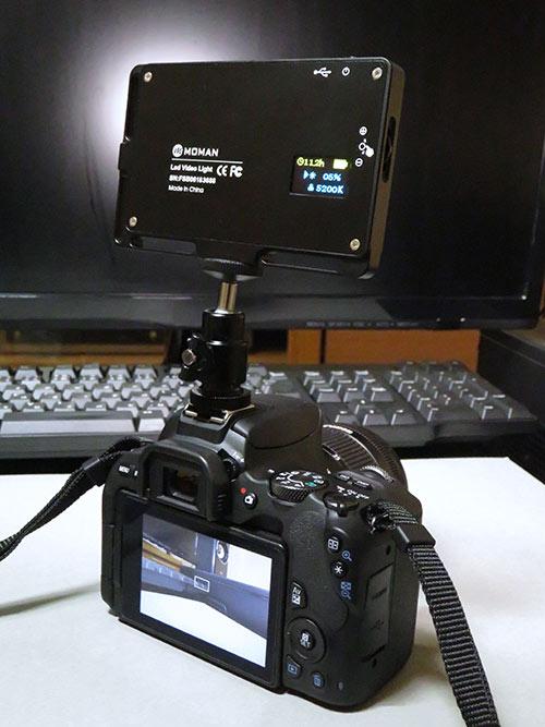 ビデオライト MOMAN 96LEDの角度調整方法