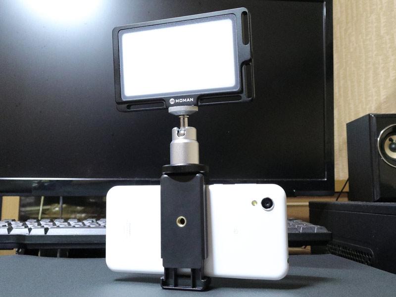 小型ビデオライト MOMAN 96LEDのレビューと使い方