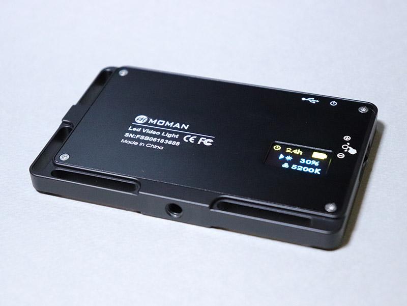 アルミ合金製の小型ビデオライト MOMAN 96LED