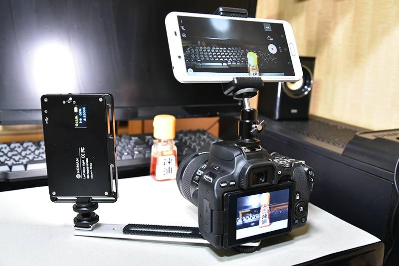 MOMAN 96LED(MFL-03)をデジタル一眼レフに接続して写真撮影