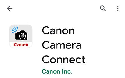 キャノンのスマホ用アプリ canon camera connect