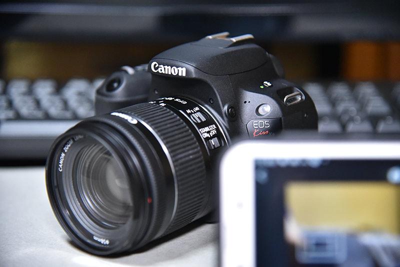camera connectアプリを利用してcanonのデジカメで自撮り