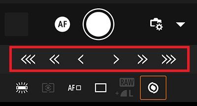canon camera connect のマニュアルフォーカスの使い方