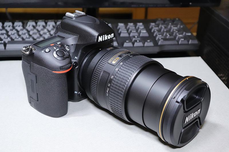 ズームしたAF-S NIKKOR 24-120mm f/4G ED VR レンズ