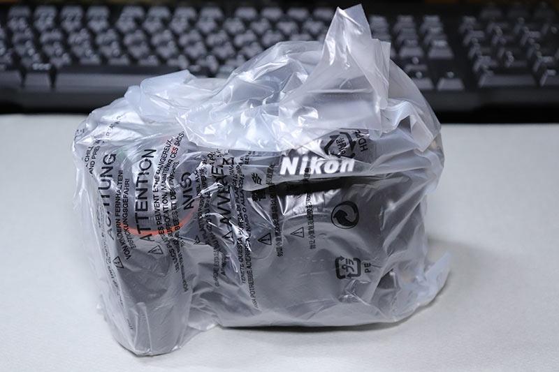 ビニール袋に入ったNikon D750のボディー