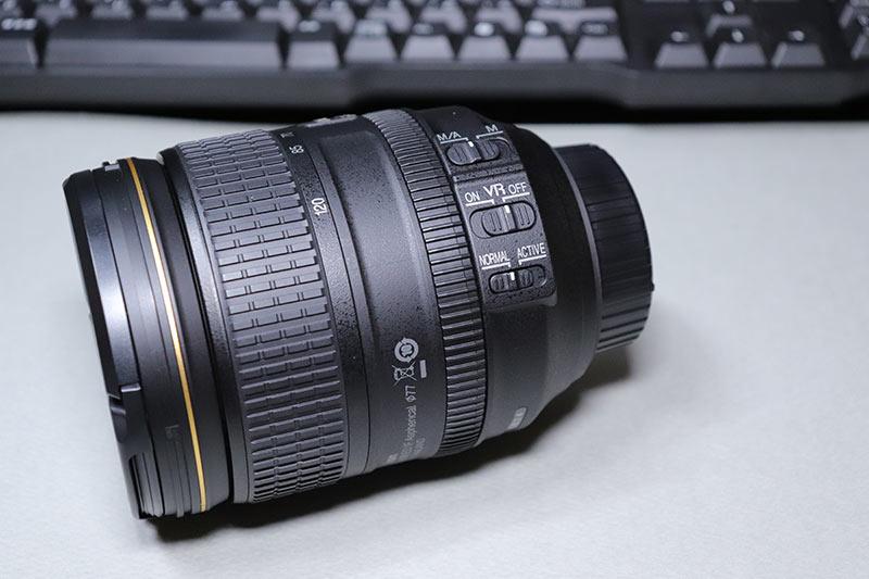 AF-S NIKKOR 24-120mmレンズの手ぶれ補正VRの切り替えスイッチ