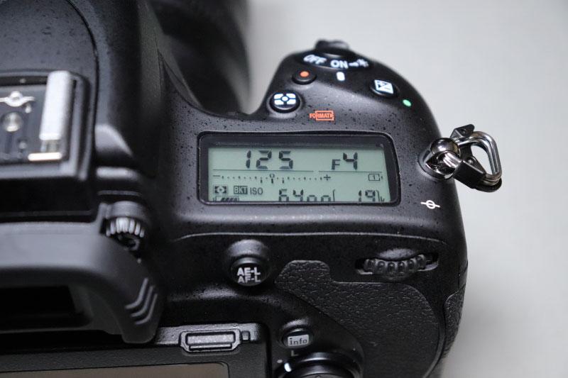 Nikon D750の表示パネル