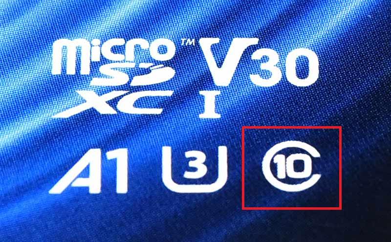 マイクロSDカードのクラス10の記号の意味