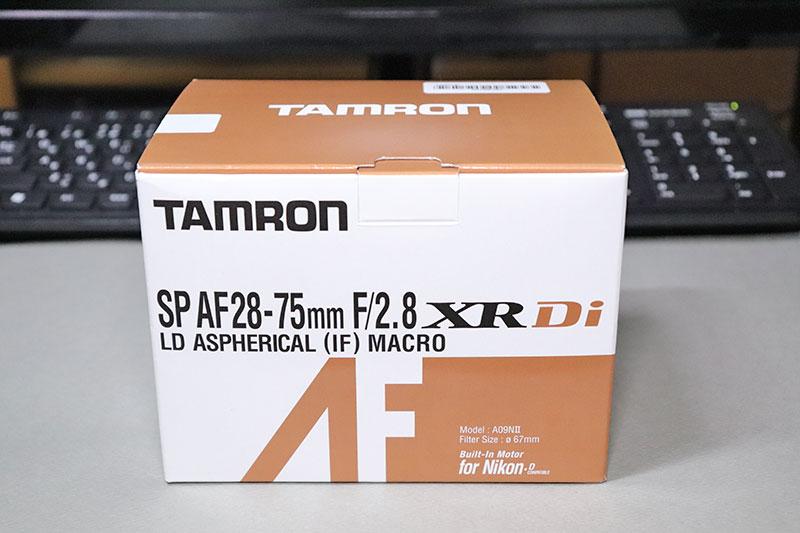 タムロン 28-75 F2.8 ズームレンズ A09NⅡのボックス