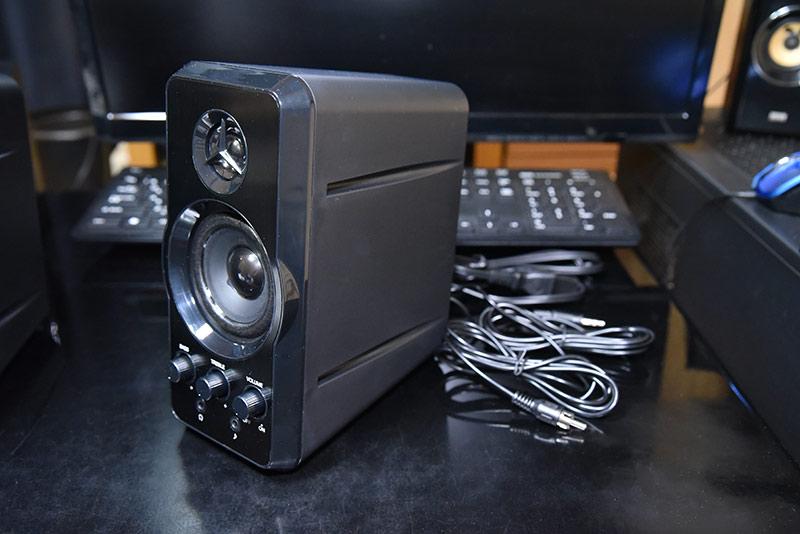 ツイーター付きのマルチメディアスピーカー mm-spl6bkのレビュー