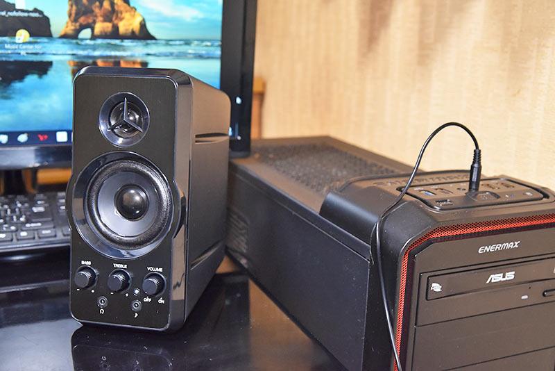 マルチメディアスピーカー MM-SPL6BKとパソコンの接続方法