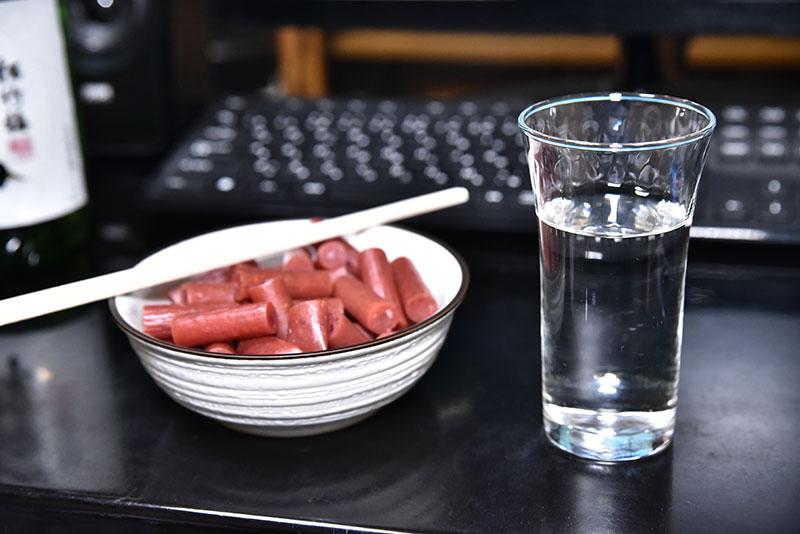 グラスに注がれた特別純米 山田錦