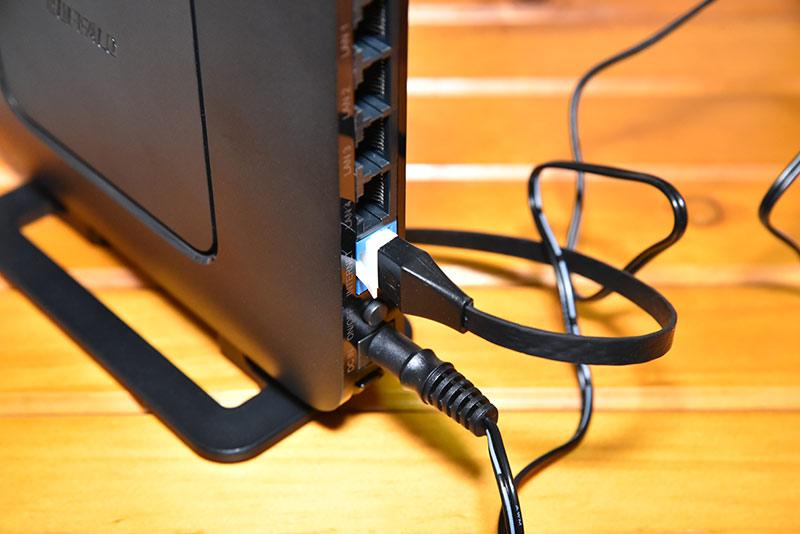 無線ラン WSR-2533DHPL-Cのインターネットポート