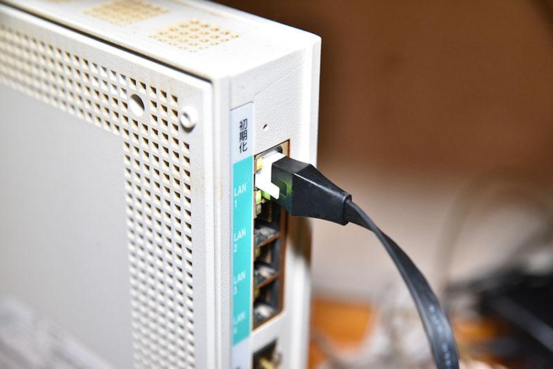 NTT VDSLモデムのLANポート