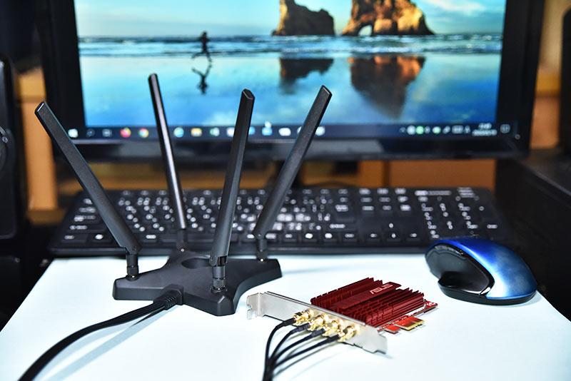 無線LANカード ASUS PCE-AC88の性能と評価