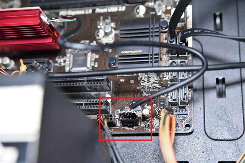 マザーボードのUSB2.0コネクター