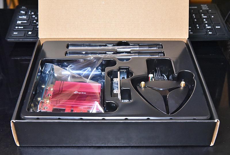 無線LANカード Archer TX3000Eのボックス内部