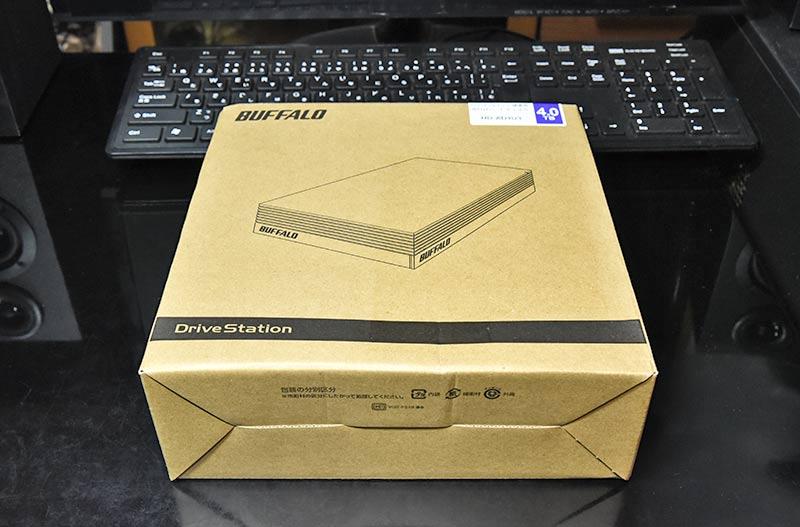 外付けハードディスク HD-AD4U3のボックス