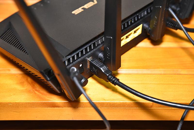 HD-AD4U3とRT-AX3000の接続方法