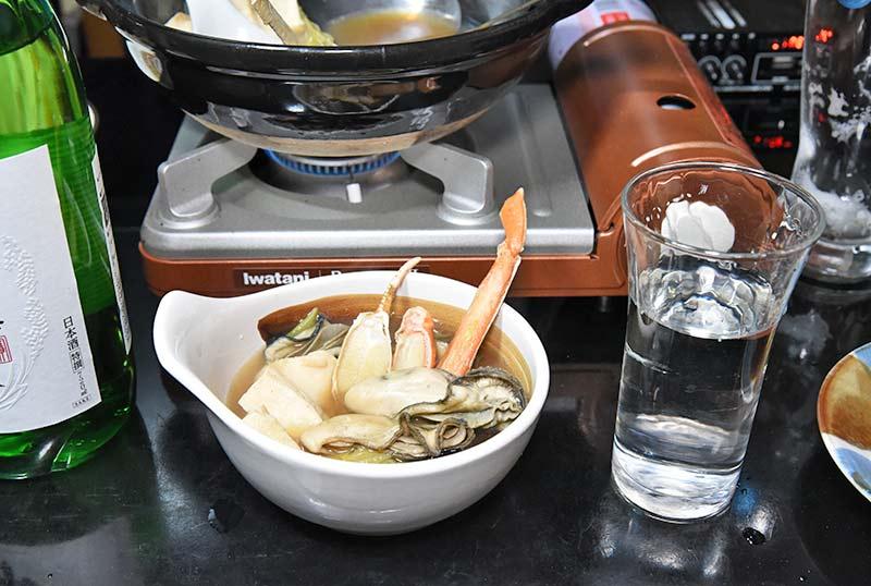 海鮮鍋と山田錦