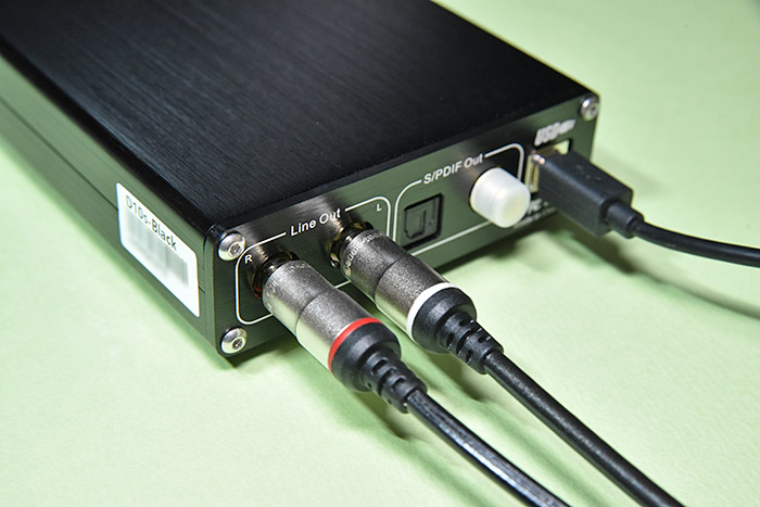 TOPPING D10s USB DACのラインアウト