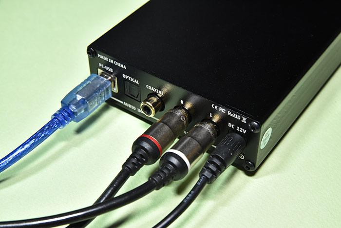 DAC-X6 PROヘッドホンアンプとアンプの接続方法