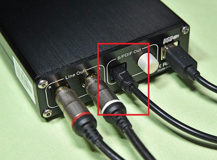 TOPPING D10sとオプティカルケーブルの接続方法