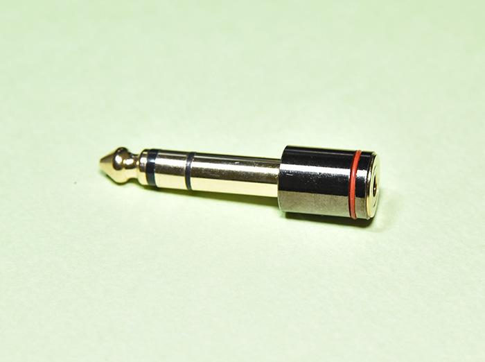 DAC-X6 PRO ヘッドホンアンプの6.35mm変換プラグ