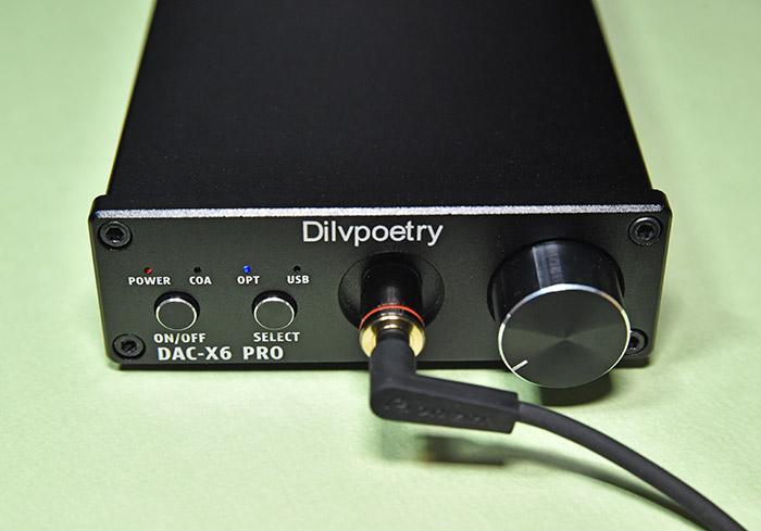 DAC-X6 PROのオプティカル入力