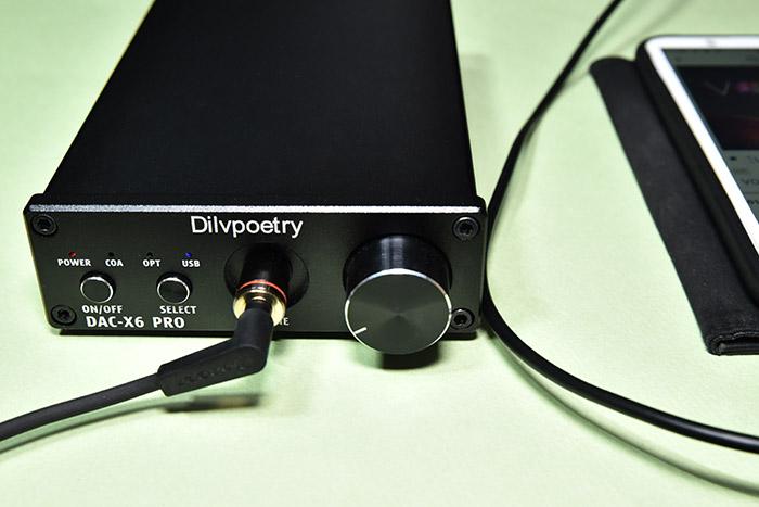 スマホとDAC-X6 PROをUSBケーブルで接続