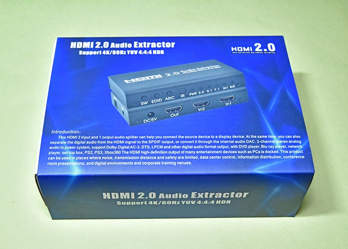 EHD-802N HDMI音声分離器のボックス