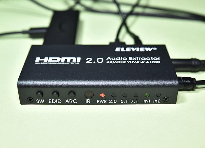 全ての接続が完了したEHD-802N HDMI音声分離器