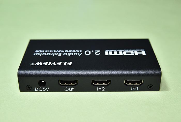 EHD-802N HDMI音声分離器のHDMI入力と出力