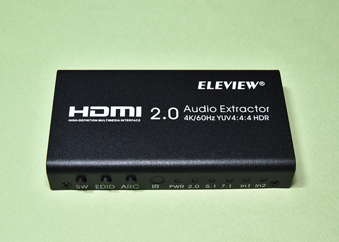ELEVIEW EHD-802N HDMI音声分離器の正面